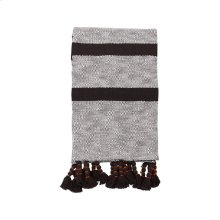 Hand Woven Dixie Stripe Throw Black