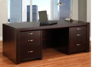 Contempo Executive Desk w/Legal File Drawers Product Image