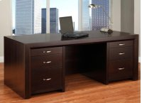 Contempo Executive Desk w/Letter File Drawers Product Image