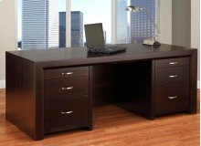Contempo Executive Desk w/Legal File Drawers