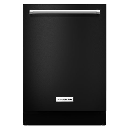 Attractive KitchenAid® 39 DBA Dishwasher With ProScrub Option   Black Hidden