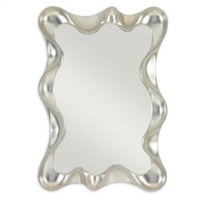 Scalloped Mirror - Silver