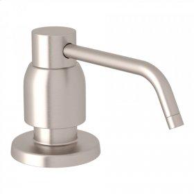 Satin Nickel Perrin & Rowe Holborn Deck Mount Soap Dispenser