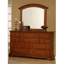 Pennsylvania Country Dresser & Arched Landscape Mirror w/Bevel