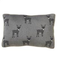 Reindeer Lumbar Knit Pillow. Product Image