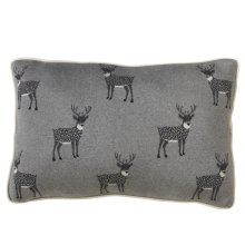 Reindeer Lumbar Knit Pillow.