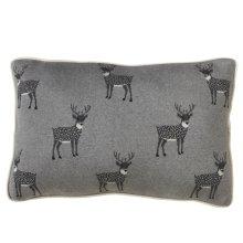 Reindeer Lumbar Knit Pillow.