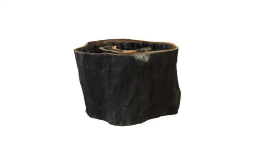 Chamcha Wood Side Table, Burnt Edge