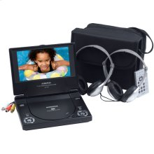 7 inch slim line portable DVD player package