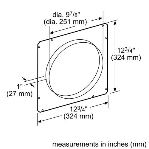 10-Inch Round Front Plate for Downdraft