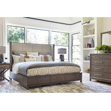 Upholstered Shelter Bed, CA King 6/0