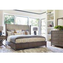 Upholstered Shelter Bed, CA King 6/0