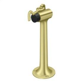 """Floor Mount, 8"""" Bumper w/ Hook & Eye, HD, Solid Brass - Polished Brass"""