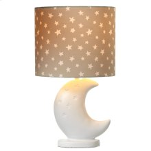 Moon Accent Lamp with Star Shade. 40W Max.