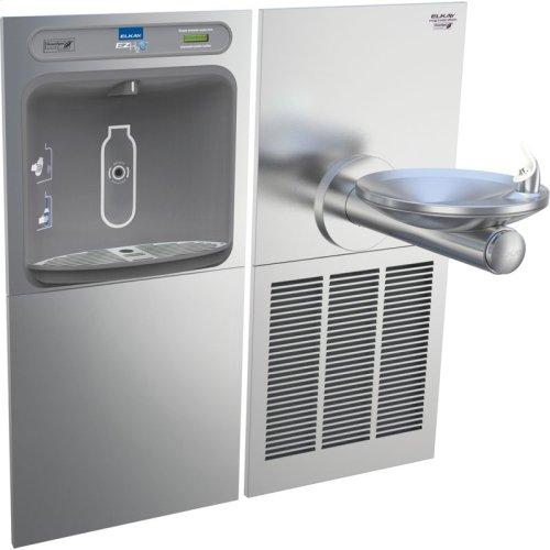 Elkay EZH2O Bottle Filling Station & SwirlFlo Single Fountain, High Efficiency Non-Filtered 8 GPH Stainless