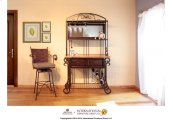 Wine Glass Rack w/Mirror