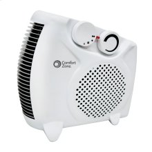 CZ30 Radiant Electric Wire Element Personal Fan Forced Heater, White