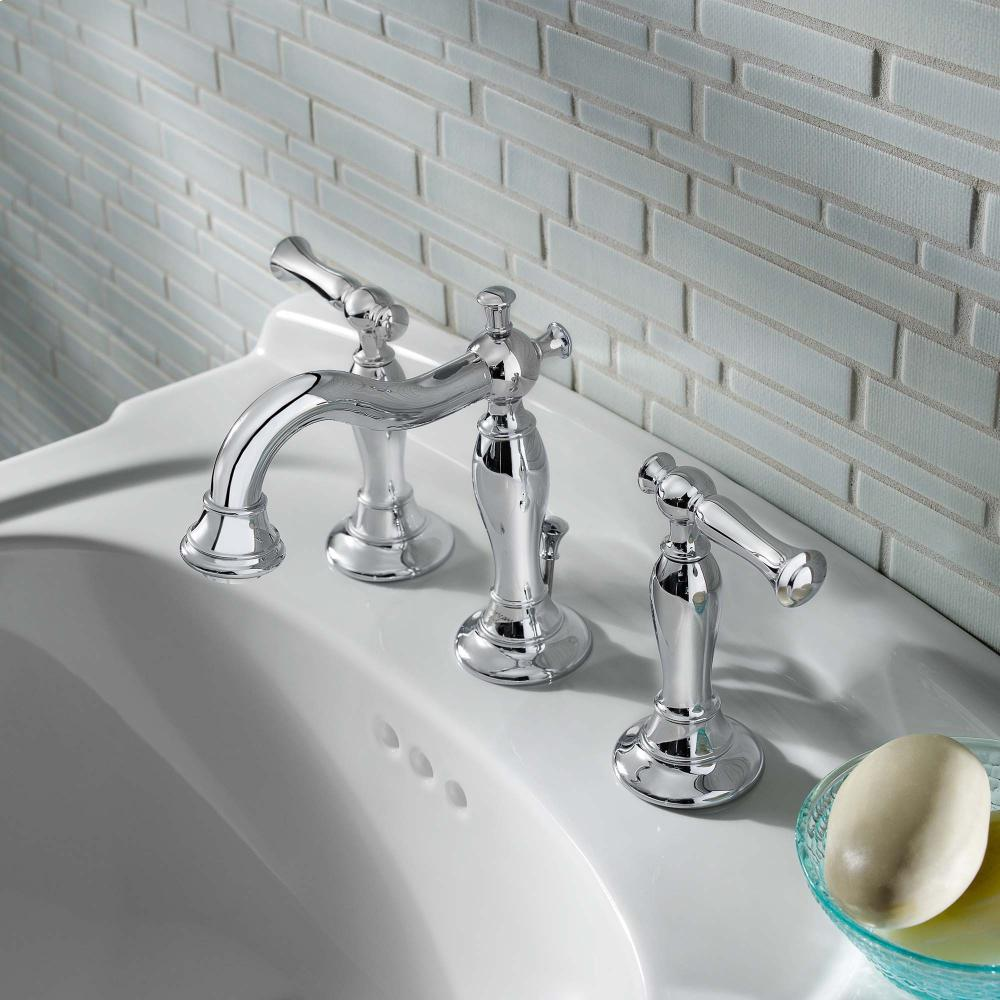 Quentin 2 Handle 8 Inch Widespread Bathroom Faucet   Polished Chrome