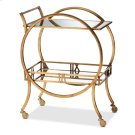 Baxton Studio Arsene Modern and Contemporary Antique Gold Finished 2-Tier Mobile Bar Cart Product Image