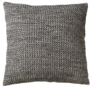 Oversized Marbled Grey & Cream Floor Pillow with Leather Handle.. Product Image