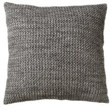 Oversized Marbled Grey & Cream Floor Pillow with Leather Handle..