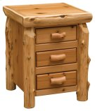 Three Drawer Nightstand Natural Cedar Product Image
