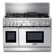 """48"""" PRO GRAND® ALL-GAS SELF-CLEANING RANGE WITH 6 STAR® BURNERS (2 W/ EXTRALOW®) AND GRILL"""