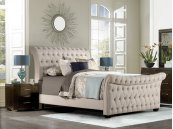 Richmond Footboard and Slats - Queen - Linen Stone