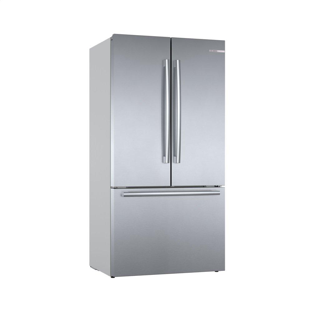 Bosch800 Series French Door Bottom Mount Refrigerator Easy Clean Stainless Steel