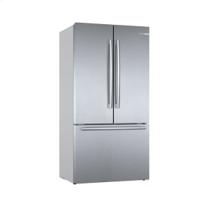 Bosch800 Series French Door Bottom Mount Refrigerator Easy clean stainless steel B36CT80SNS