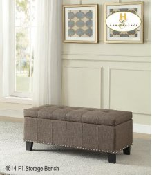 Lift Top Storage Bench, Brown