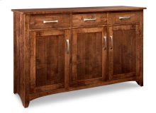 Glengarry Sideboard w/3 Wood Doors & 3/Drws & 1/Wood Halfshelf