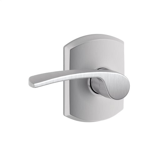Merano lever with Greenwich trim Hall & Closet lock - Satin Chrome