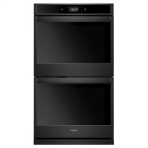 10.0 cu. ft. Smart Double Wall Oven with True Convection Cooking - BLACK