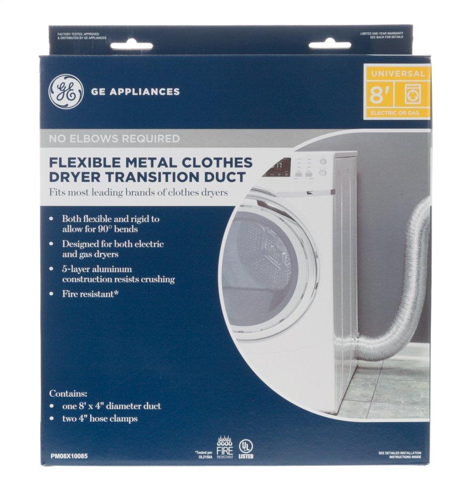 Pm08x10085ge Flexible Metal Dryer Transition Duct Happys