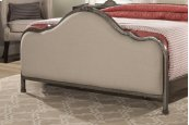 Delray Footboard - King - Aged Steel With Linen Stone