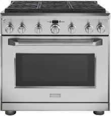 "GE Monogram® 36"" Dual-Fuel Professional Range with 6 Burners (Natural Gas)"