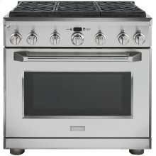 "Monogram 36"" Dual-Fuel Professional Range with 6 Burners (Natural Gas)"
