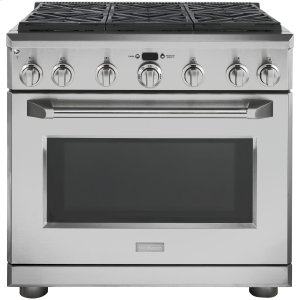 "GEMONOGRAMMonogram 36"" Dual-Fuel Professional Range with 6 Burners (Natural Gas)"