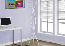 "COAT RACK - 72""H / WHITE METAL CONTEMPORARY STYLE"