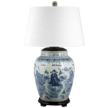 Song Porcelain Table Lamp, BLUE, ONE
