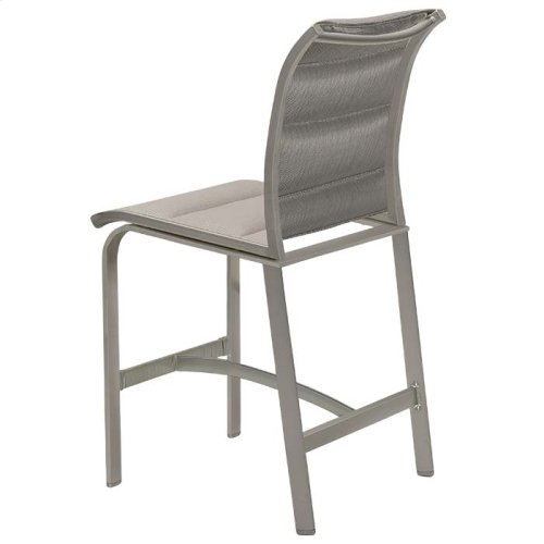 Elance Padded Sling Armless Stationary Bar Stool