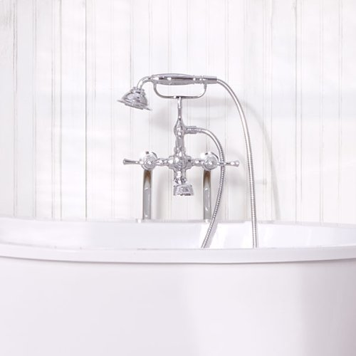 Transitional Floor-Mounted Bathtub Faucet with Randall Lever Handles - Polished Chrome
