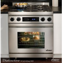"Distinctive 30"" Dual-Fuel Range, in Stainless Steel (Liquid Propane)"
