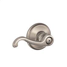 Callington Lever Bed & Bath Lock - Satin Nickel
