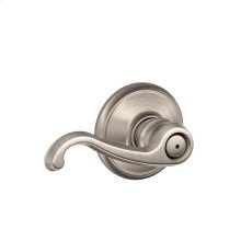 Callington Lever Bed & Bath Lock - Satin Nickel
