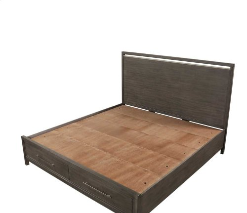 """Katy Queen Storage Bed Headboard, 62""""x2""""x32"""""""