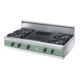 "Sage 42"" Open Burner Rangetop - VGRT (42"" wide, four burners 12"" wide char-grill)"