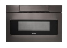 24 in. 1.2 cu. ft. 1000W Sharp Black Stainless Steel Microwave Drawer Oven (SMD2470AH)