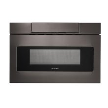 24 in. 1.2 cu. ft. 950W Sharp Black Stainless Steel Microwave Drawer Oven